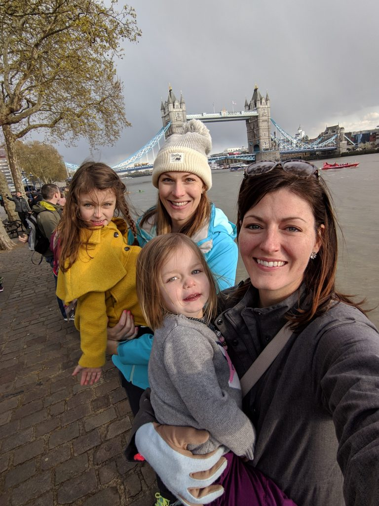 our family in front of tower bridge
